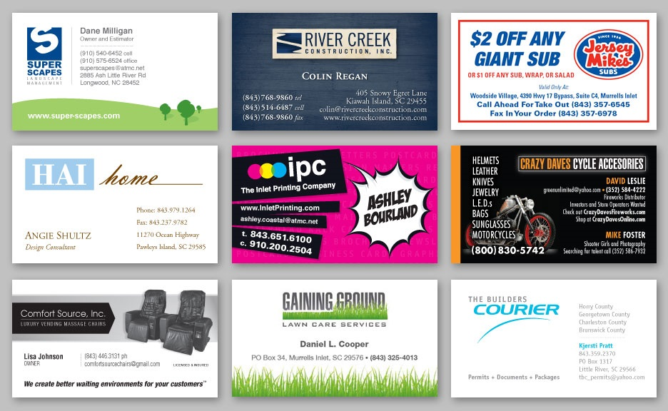 Portfolio - Inlet Printing and Coastal Printing & Graphics